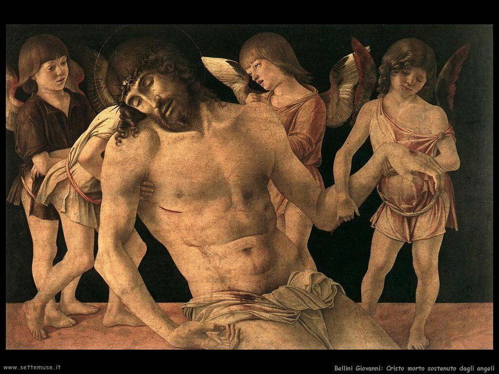 bellini giovanni Cristo morto sorretto da angeli