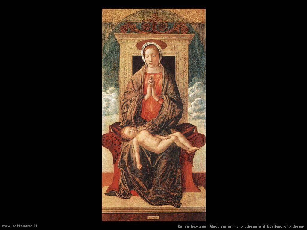 Madonna in trono in adorazione del dormiente