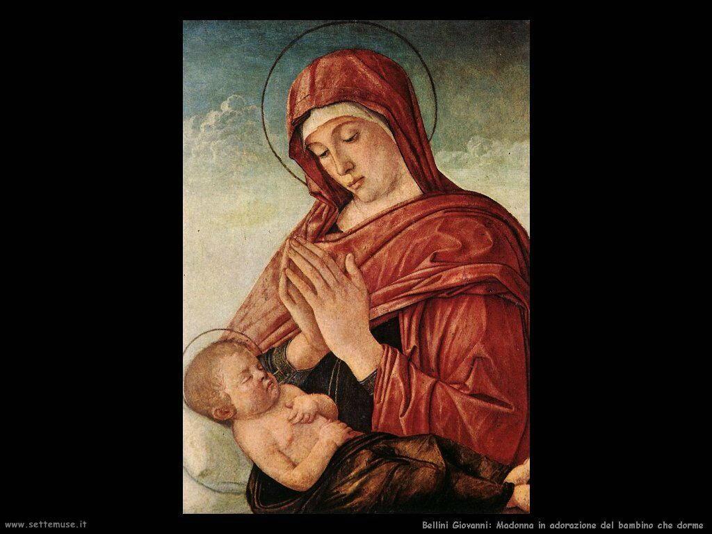 bellini giovanni Madonna in adorazione del dormiente