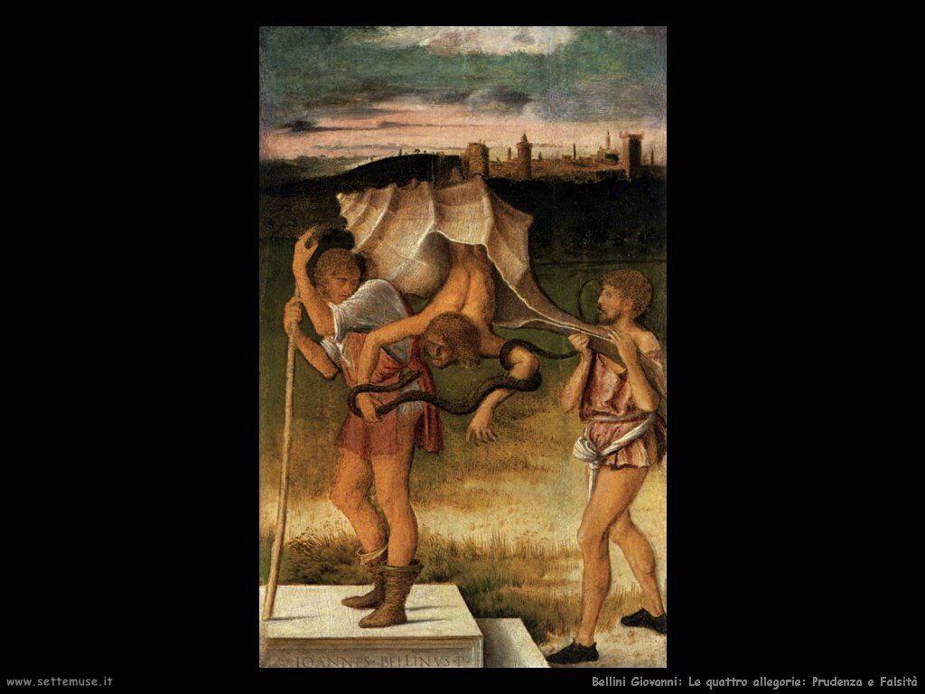 bellini giovanni Le 4 allegorie: Prudenza e Falsità