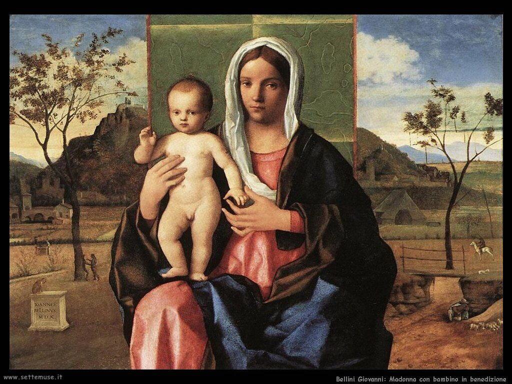 Madonna con bambino in benedizione