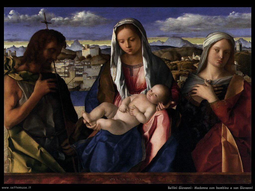 bellini giovanni Madonna con bambino e san Giovanni