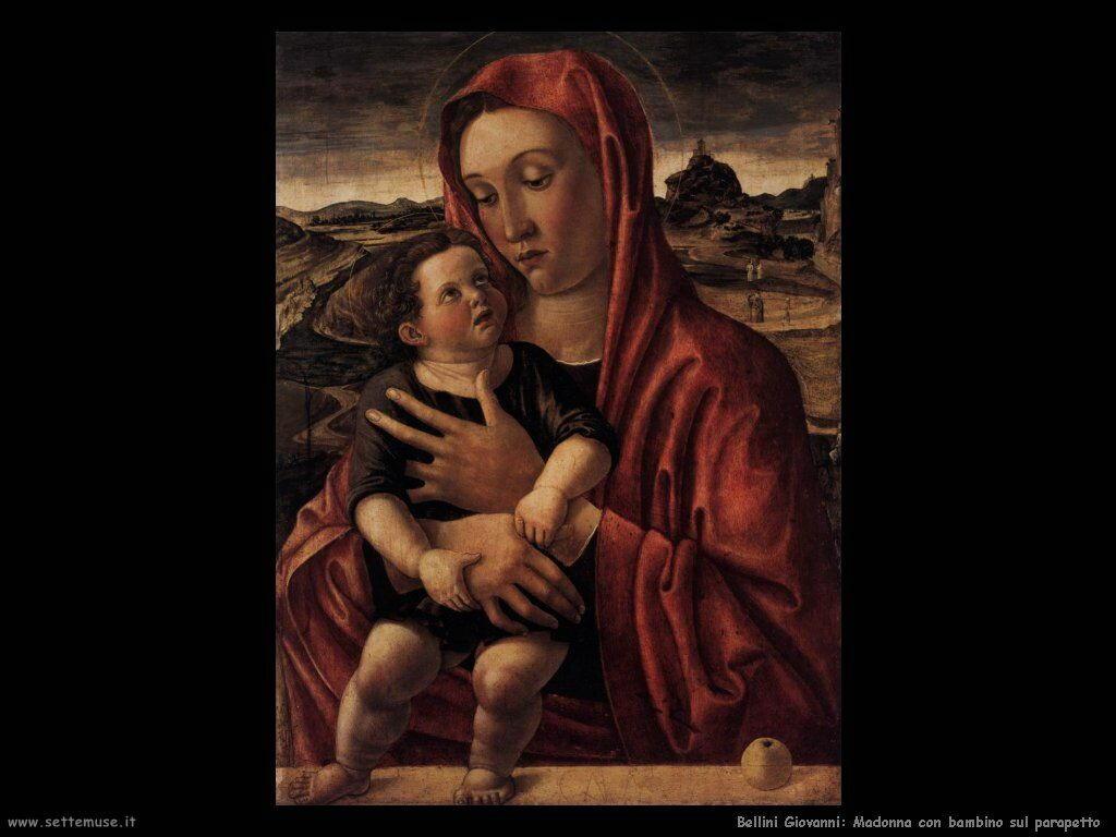 Madonna con bambino sul parapetto