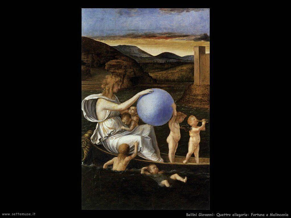 Le 4 allegorie: Fortuna e Malinconia