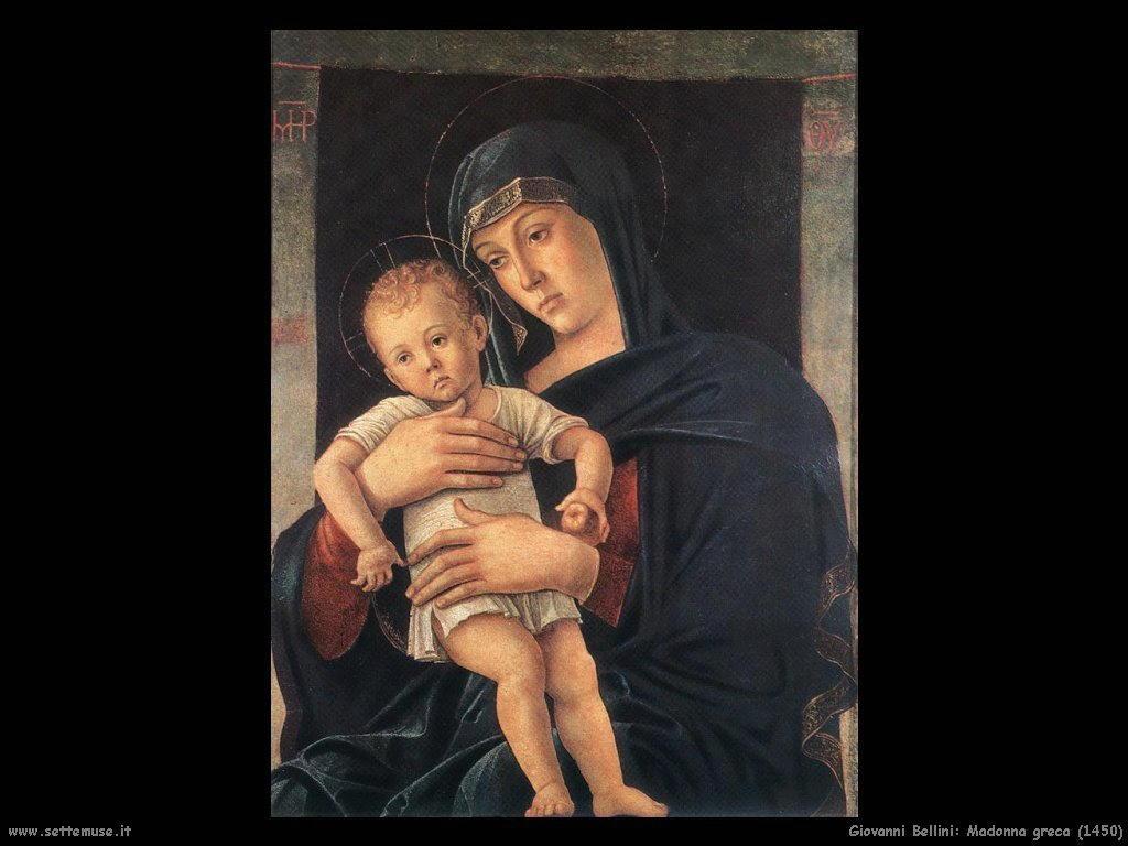 Giovanni Bellini Madonna greca (1450)