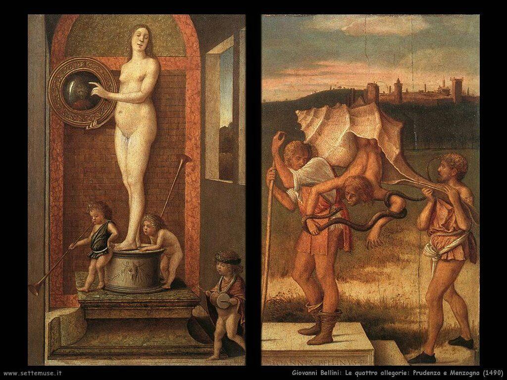 Le 4 allegorie: Prudenza e Menzogna (1490)