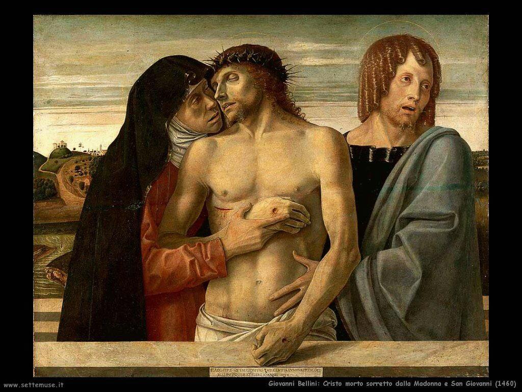 giovanni bellini Cristo morto sostenuto dalla Madonna e San Giovanni (1460)