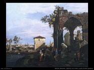 Capriccio con rovine e Porta Portello Padova