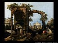 Capriccio con classiche rovine ed edifici