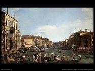 Una regata sul Canal Grande Venezia
