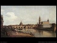 Vista di Dresda dalla sponda destra