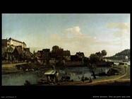 Pirna visto dalla città portuale