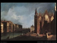 bellotto bernardo Canal Grande vicino a santa Maria