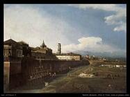 Vista di Torino, vicino al palazzo reale (1745)