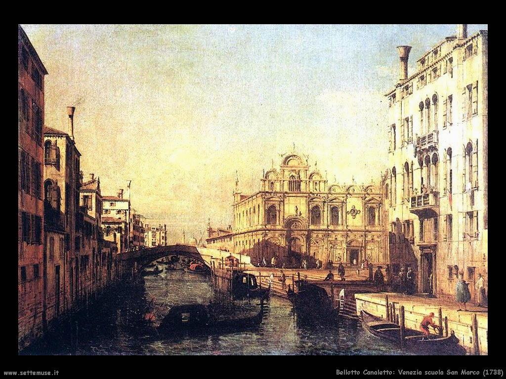 Bernardo Bellotto Venezia, scuola San Marco (1738)