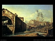 bellotto canaletto Dintorni di Padova, con torre di Ezzelino