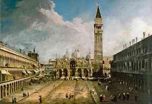 Pittura di Bernardo Bellotto detto Canaletto
