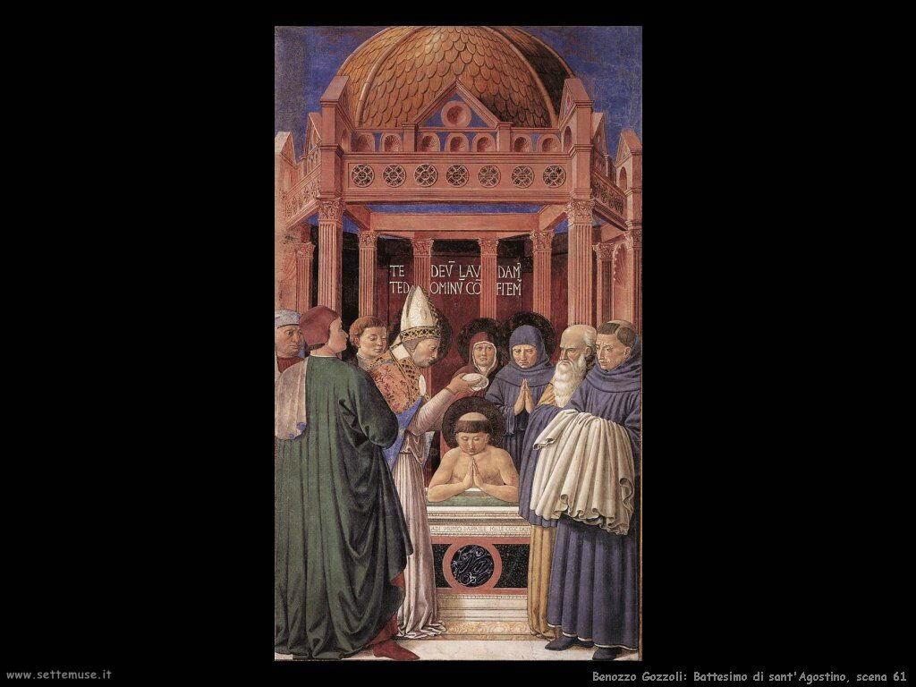 Battesimo di sant'Agostino, scena 61