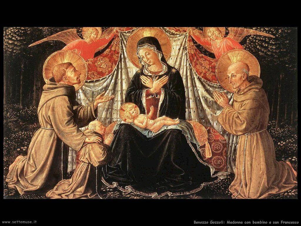 Madonna con bambino e san Francesco
