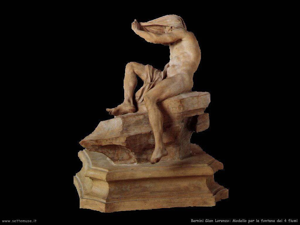 Modello di fontana quattro fiumi Gian Lorenzo Bernini