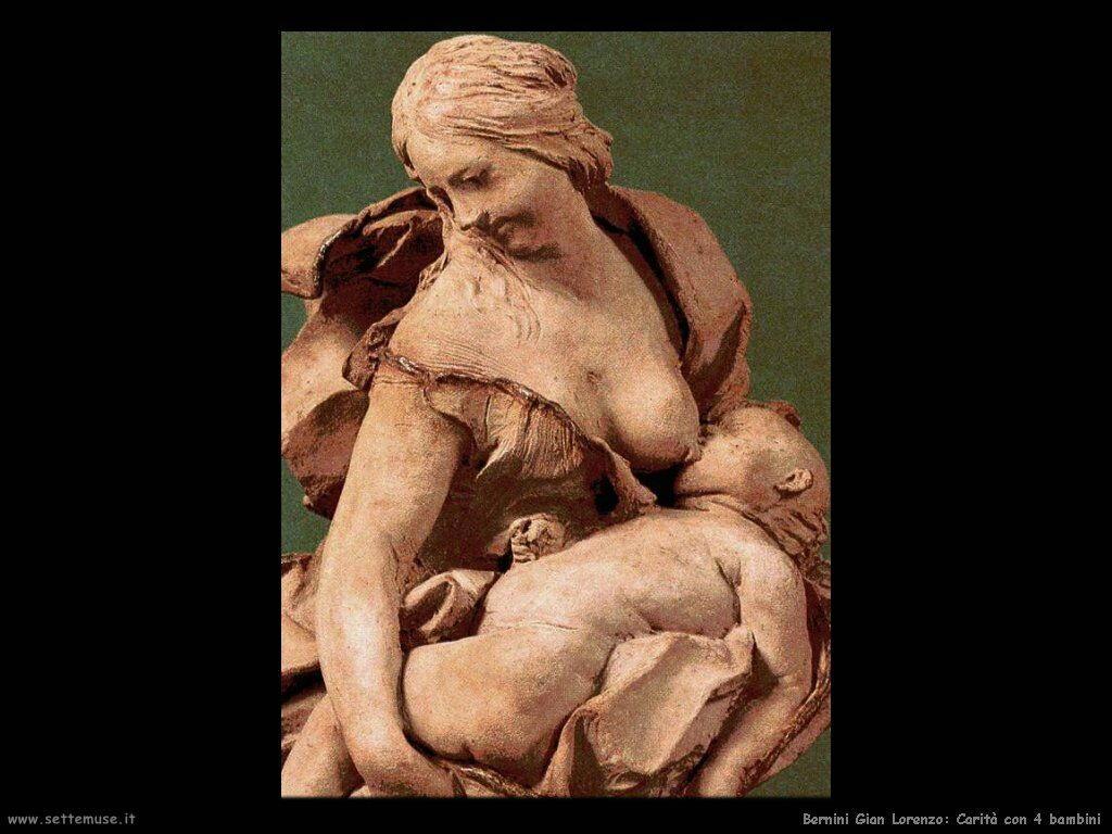 Carità con 4 bambini Gian Lorenzo Bernini