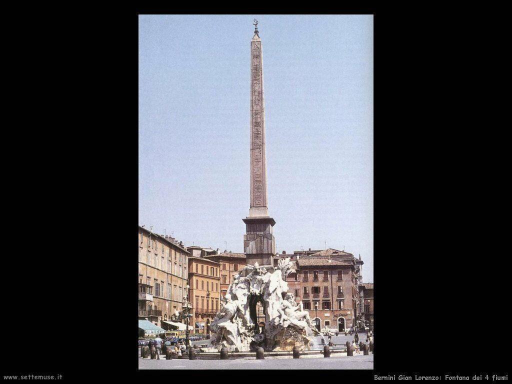 Fontana dei quattro fiumi Gian Lorenzo Bernini