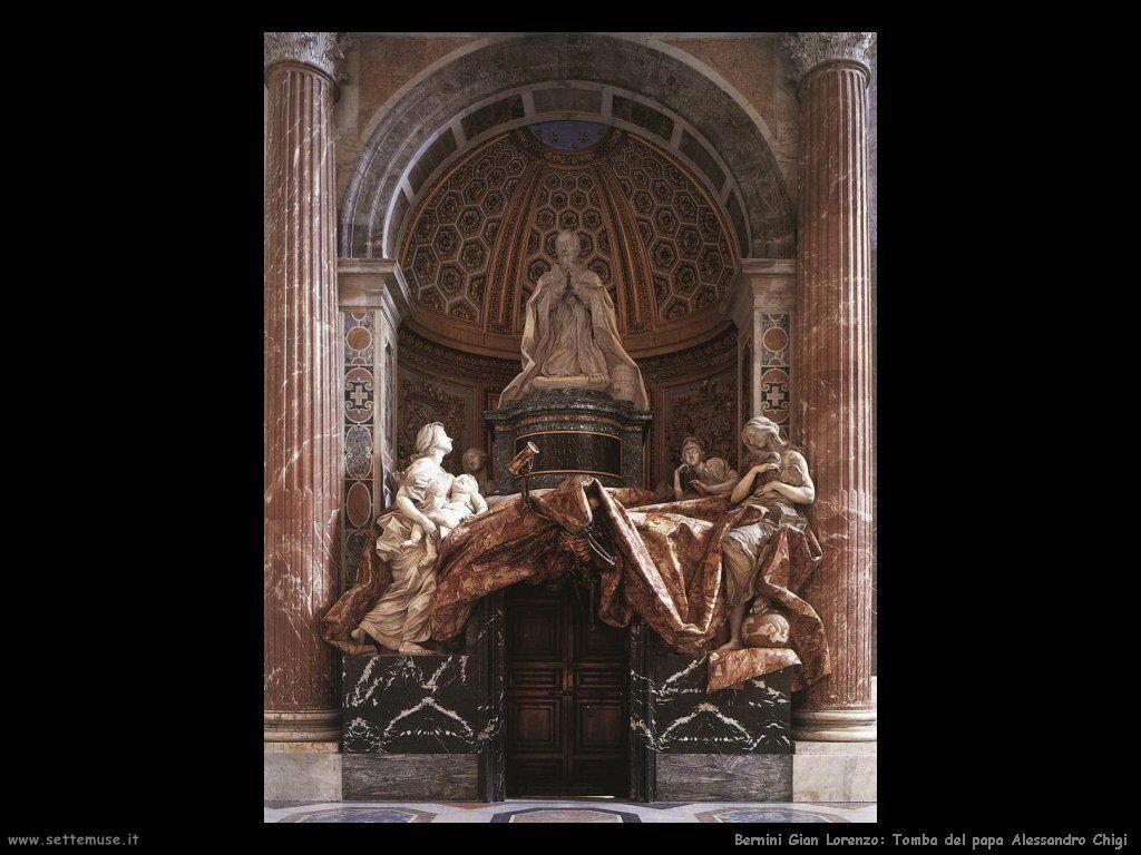 Tomba di papa Alessandro Chigi VII Gian Lorenzo Bernini