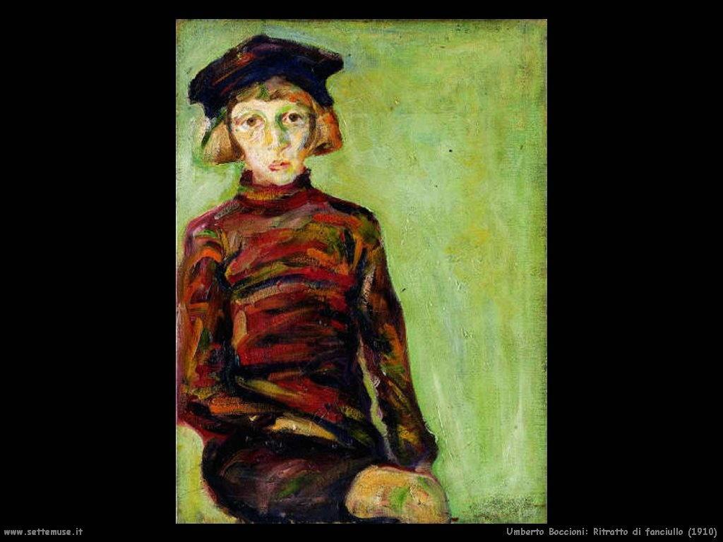 Umberto Boccioni Ritratto di fanciullo (1910)