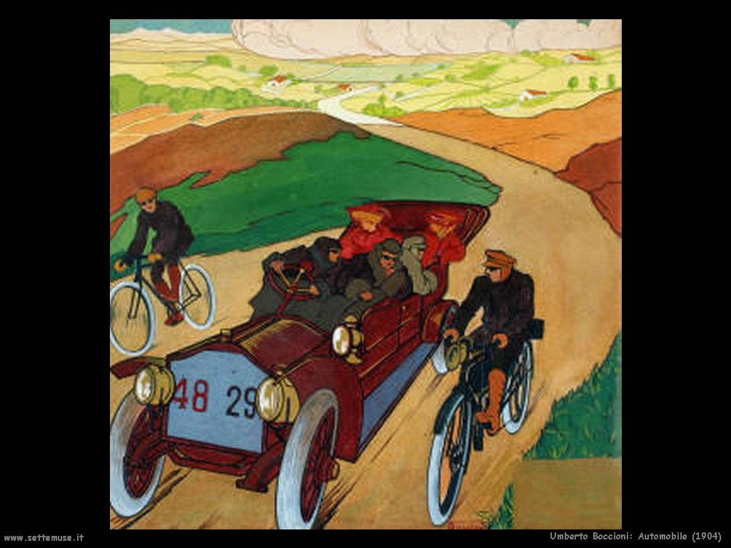 Umberto Boccioni Automobile (1904)