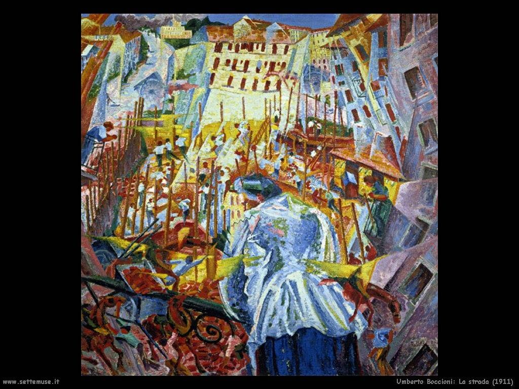 Umberto Boccioni La strada (1911)