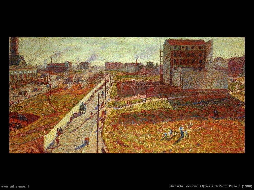 Umberto Boccioni Officine di porta Romana (1908)
