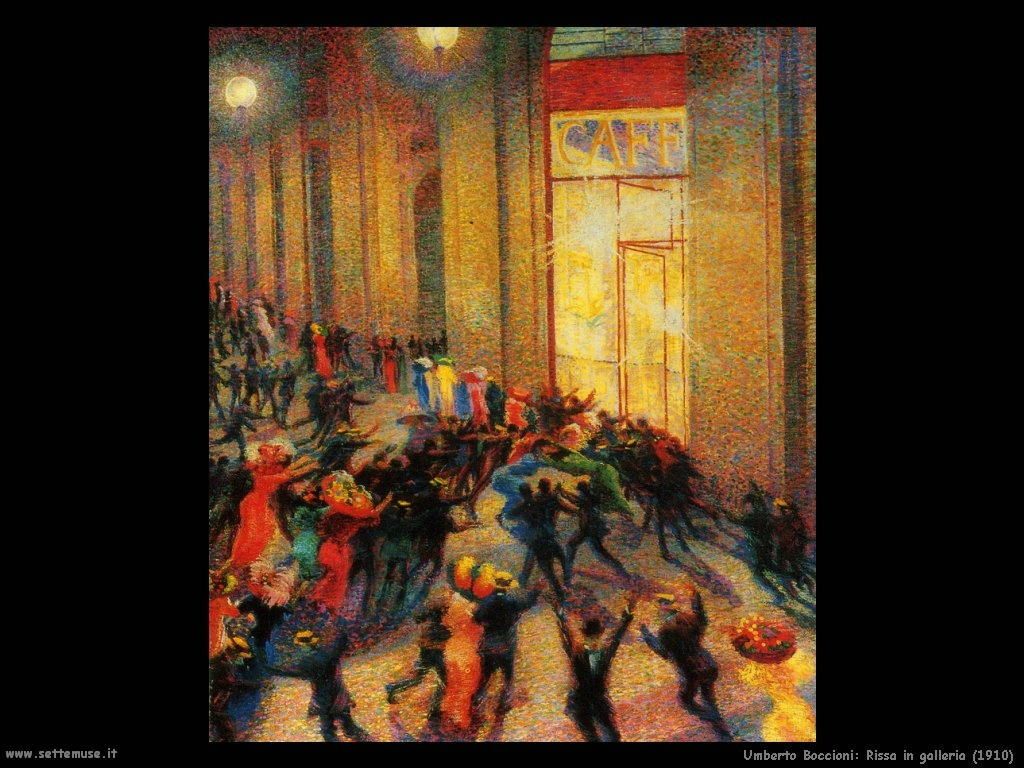 Umberto Boccioni Rissa in galleria (1910)