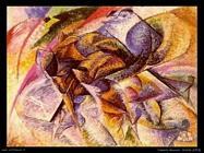 umberto boccioni Ciclista (1913)