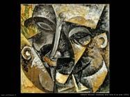 umberto boccioni Dinamismo della testa di un uomo (1913)