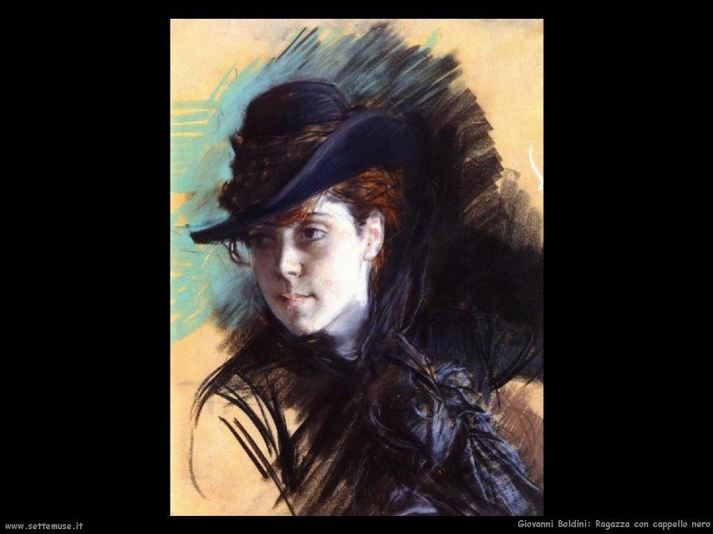 Giovanni Boldini Ragazza con cappello nero
