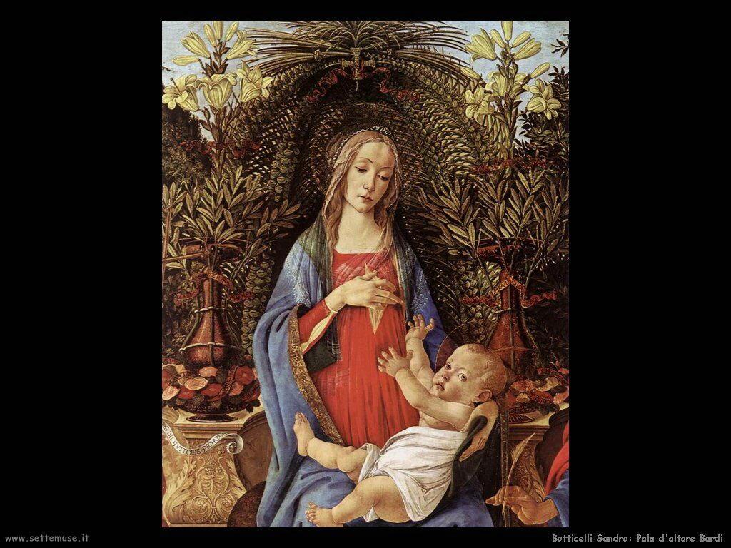 Sandro Botticelli bardi pala altare