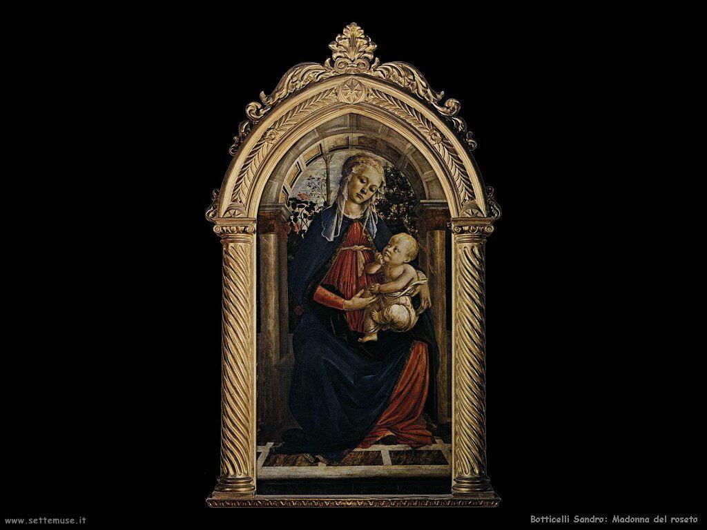 sandro botticelli madonna del roseto