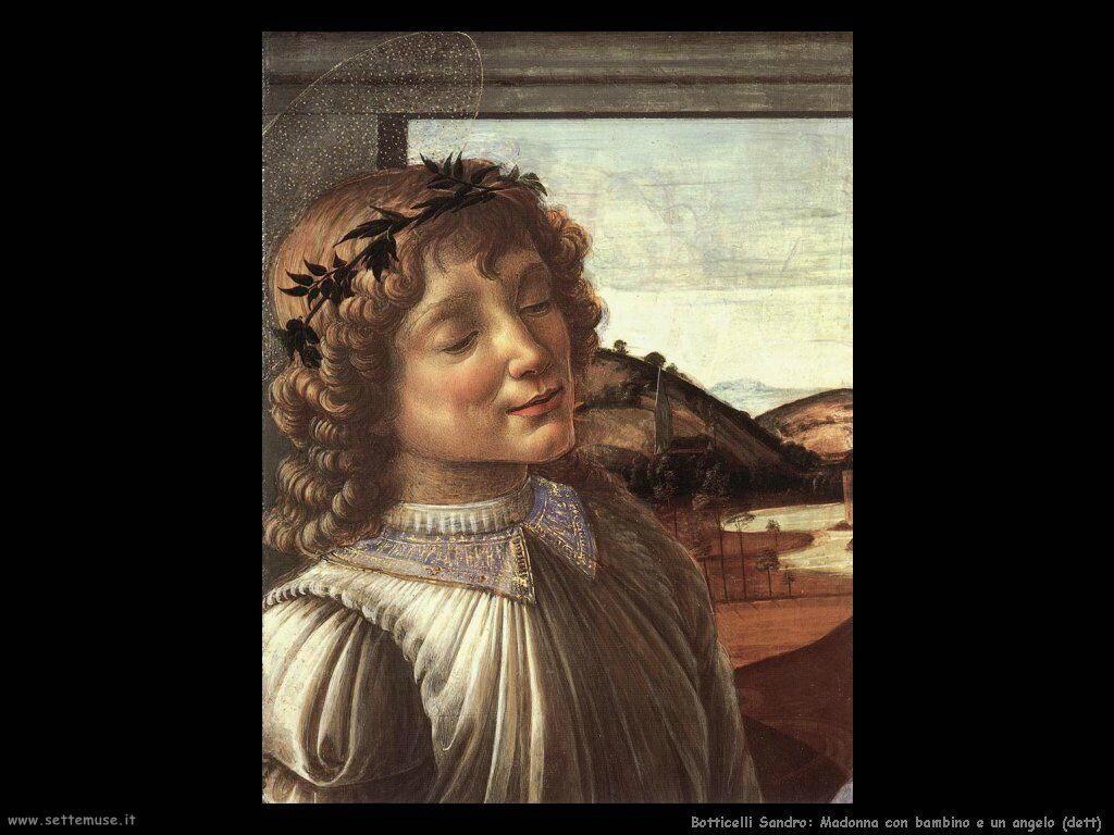Sandro Botticelli Madonna con bambino e angelo