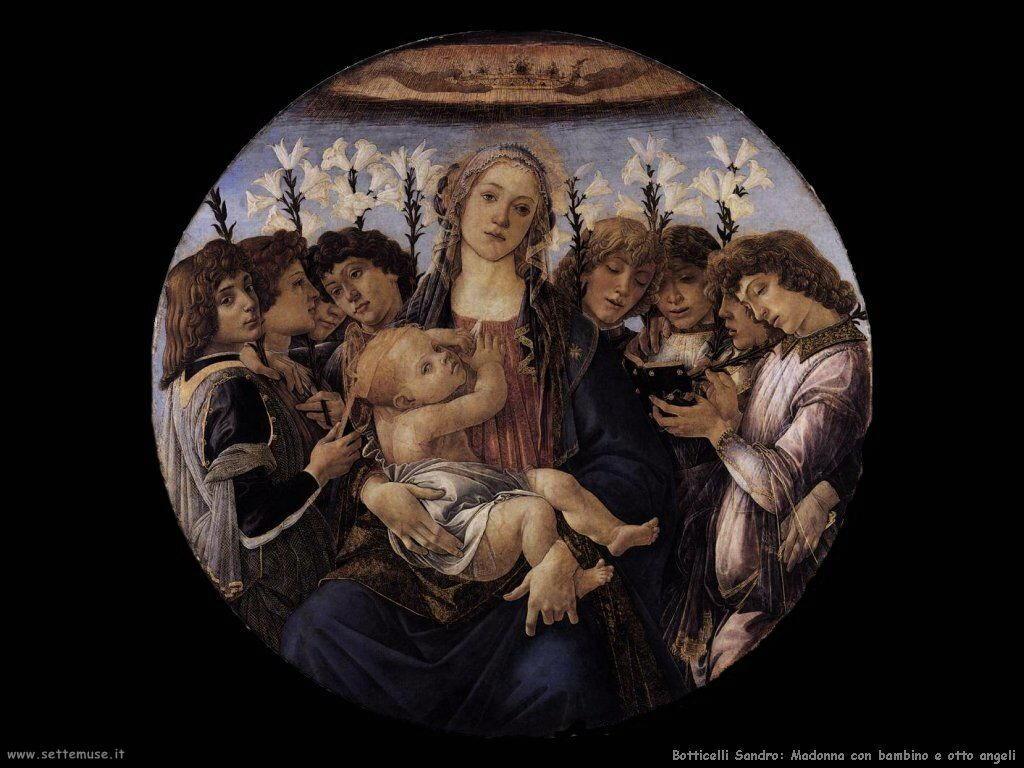 sandro botticelli madonna e otto angeli