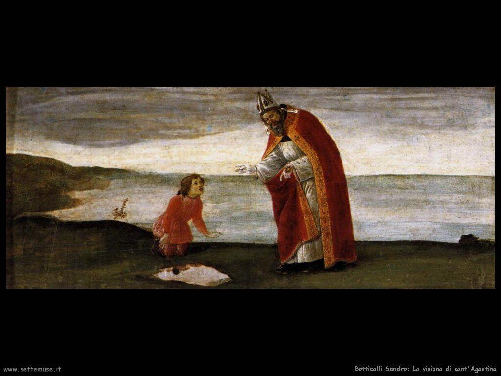 botticelli visione di sant agostino