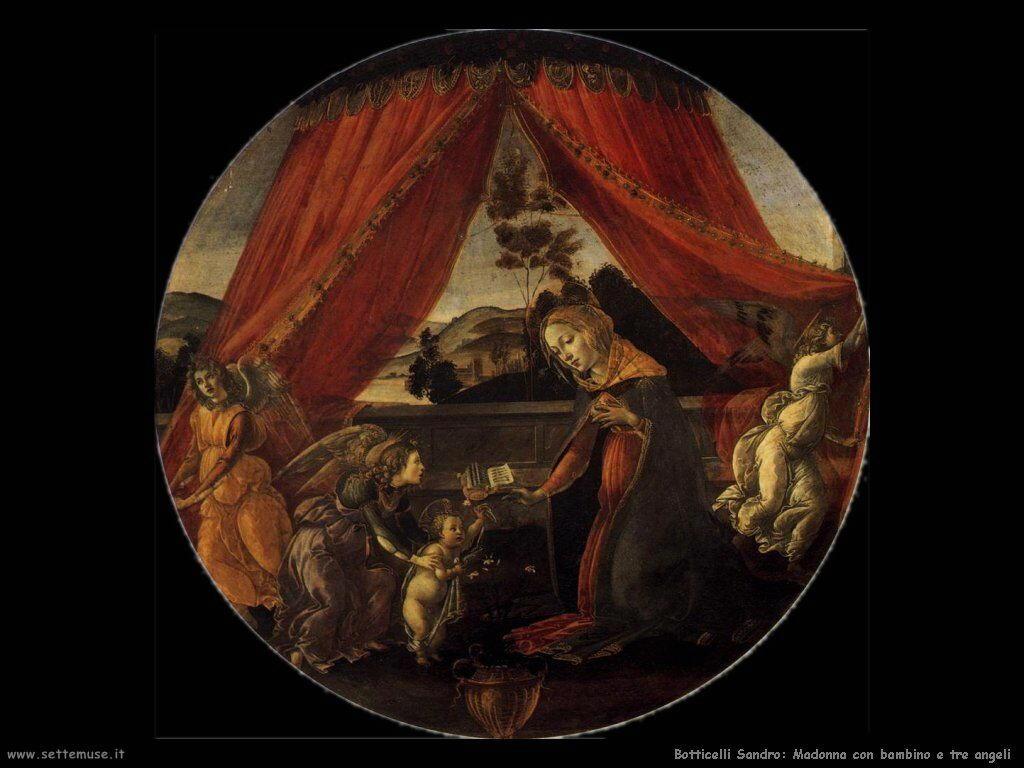 sandro botticelli vergine e tre santi