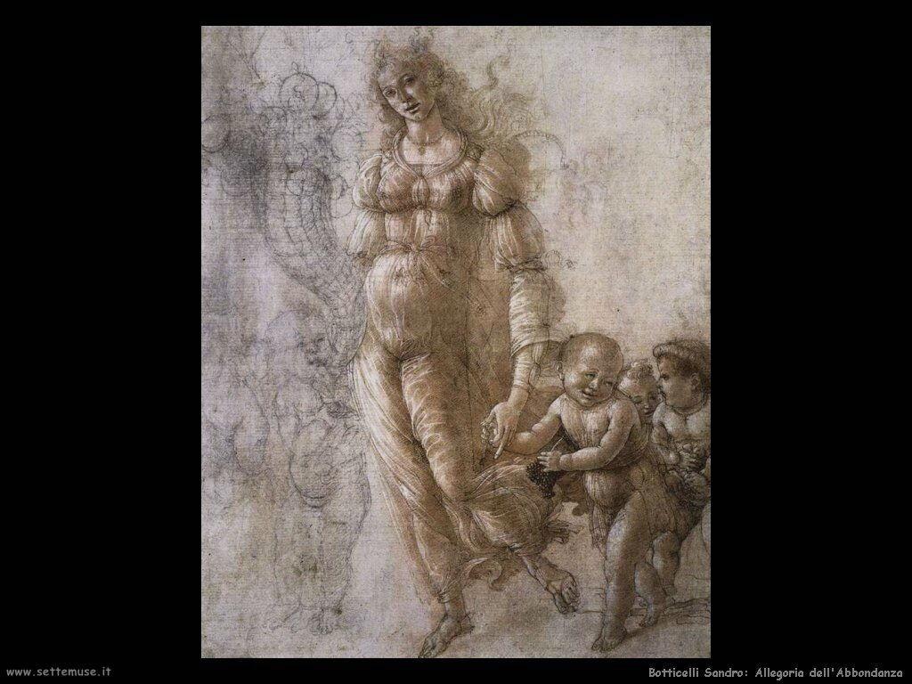 botticelli allegoria abbondanza