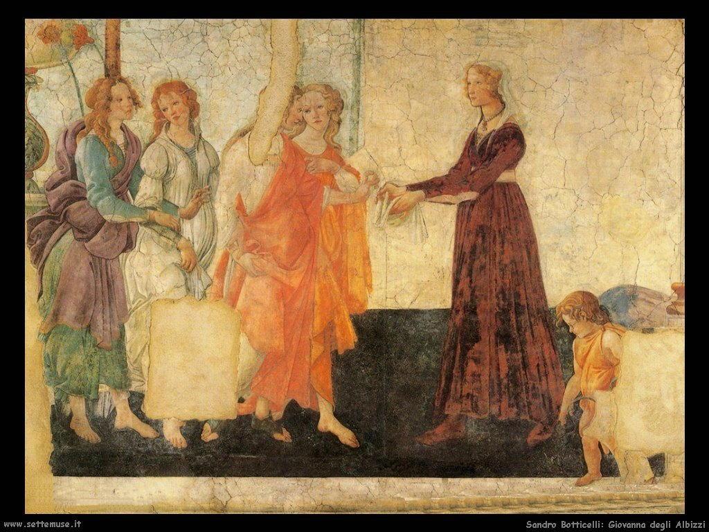 Sandro Botticelli Giovanna degli Albizzi
