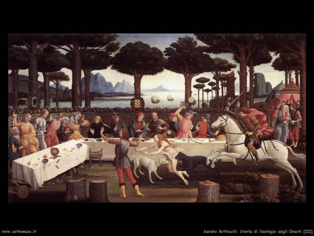Sandro Botticelli Storia di Nastagio degli Onesti (3)