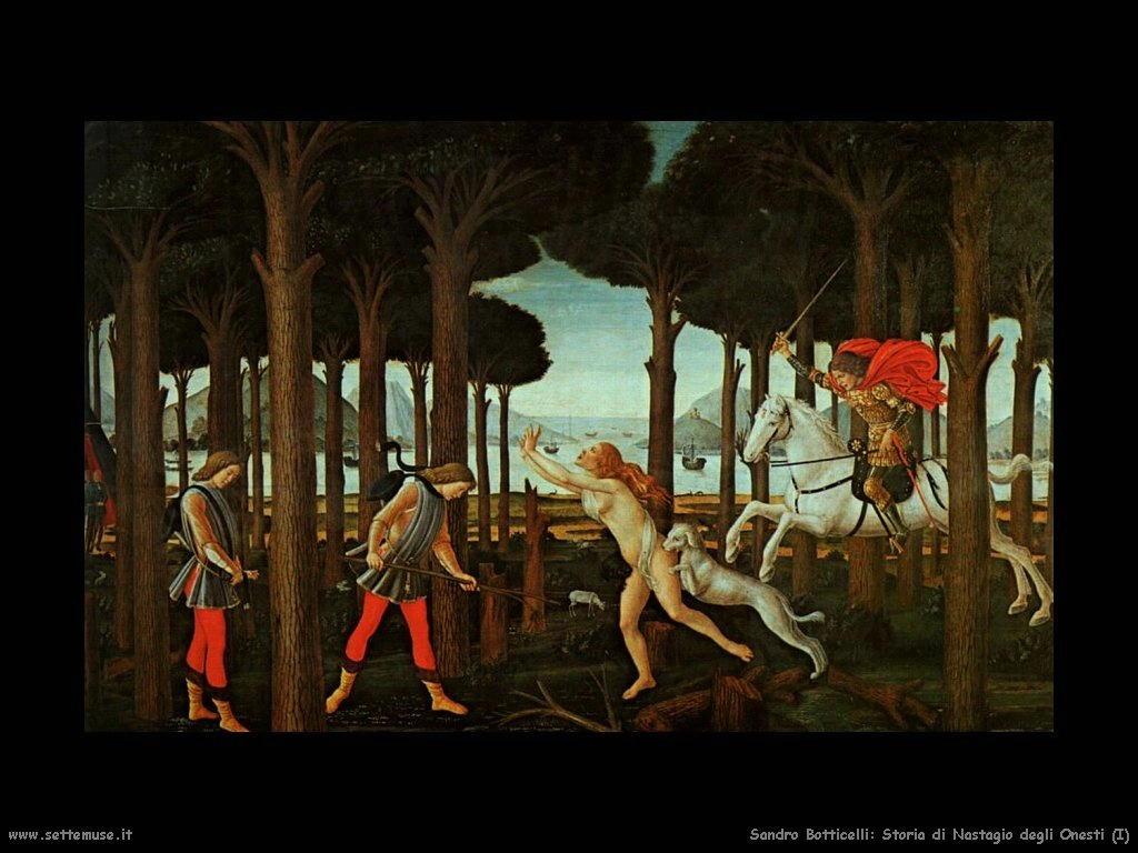Sandro Botticelli Storia di Nastagio degli Onesti (1)