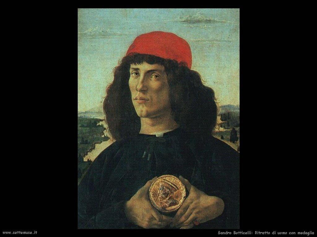 Sandro Botticelli Ritratto di uomo con medaglia
