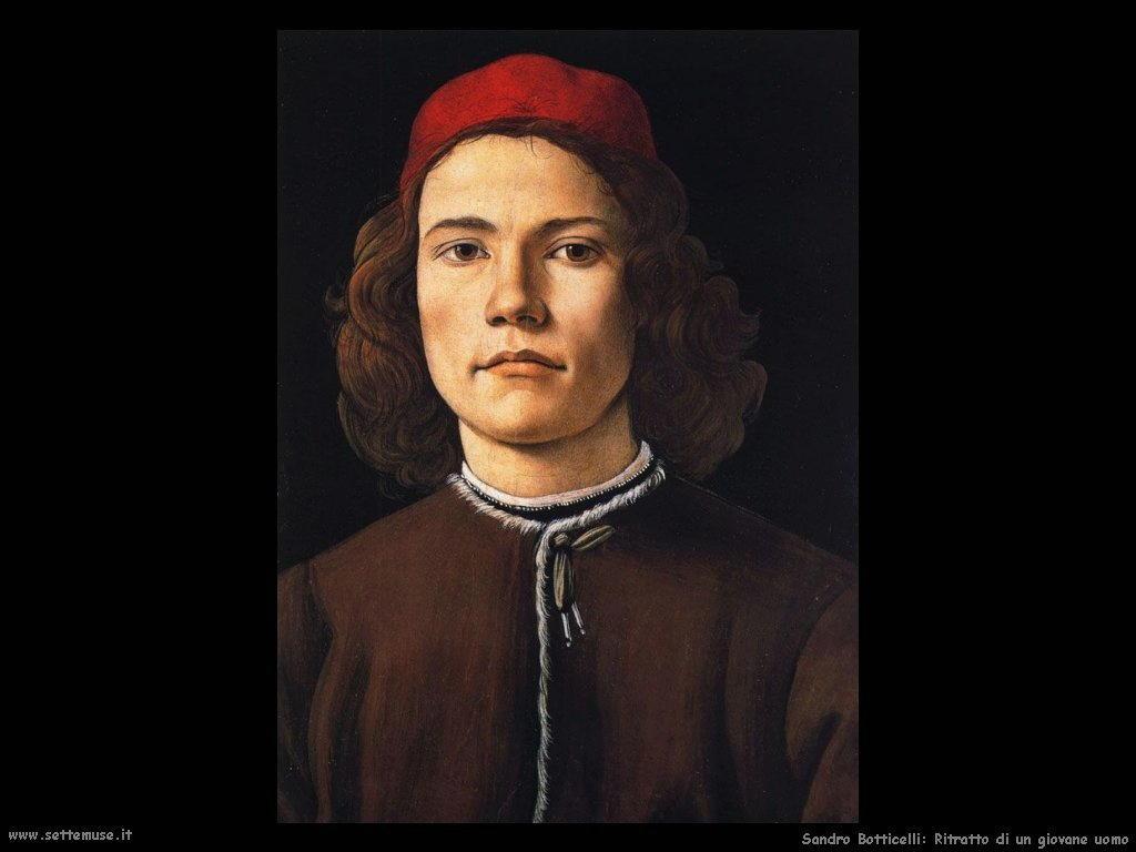 Sandro Botticelli Ritratto di un giovane uomo