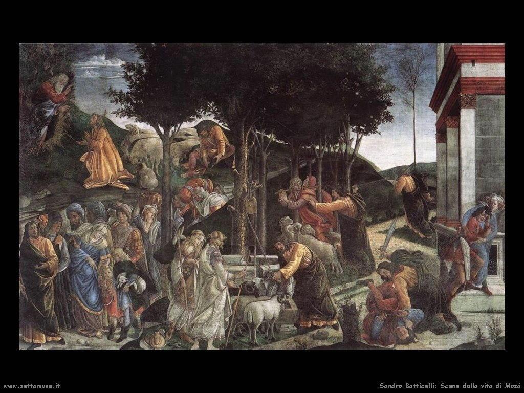 Sandro Botticelli Scene della vita di Mosè