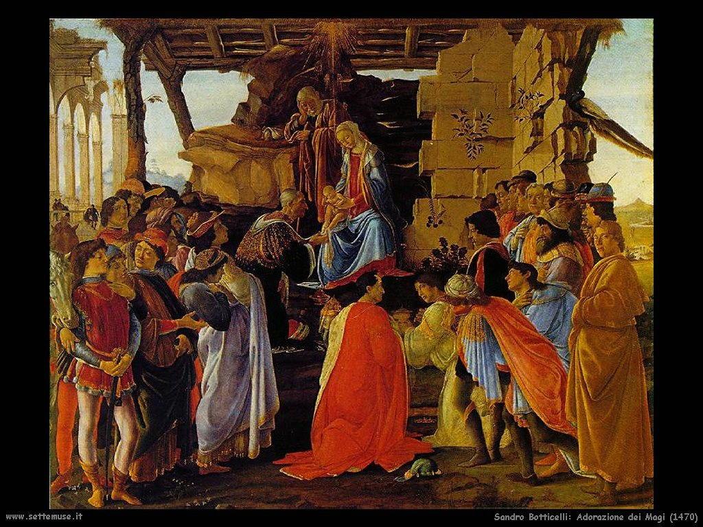 Sandro Botticelli Adorazione dei Magi (1470)