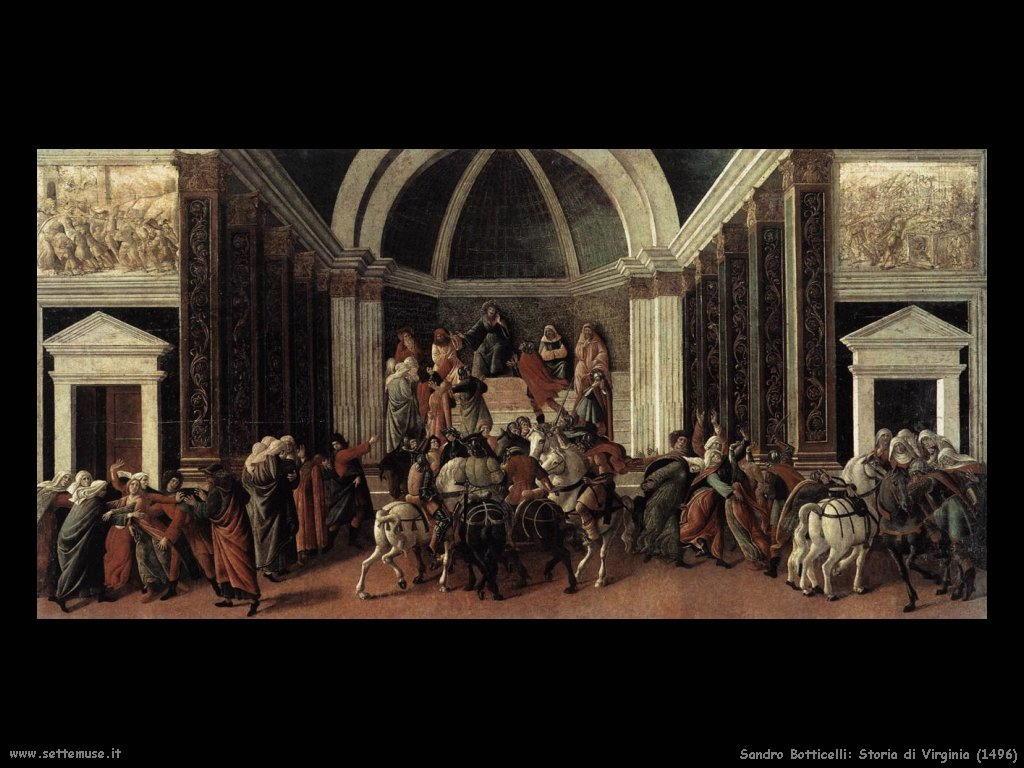 Sandro Botticelli Storia di Virginia (1496)